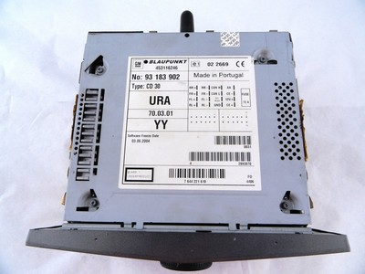 Astra H, Zafira B CD30 Metallic Charcoal Tech 2 Reset ident YY