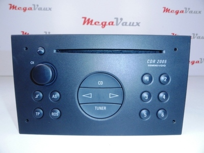 CDR 2005 CD Radio Siemens VDO with Radio Code Anthracite