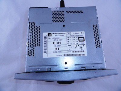 Astra H, Zafira B CD30/MP3 Matt Chrome Tech 2 Reset AU/HT/AF