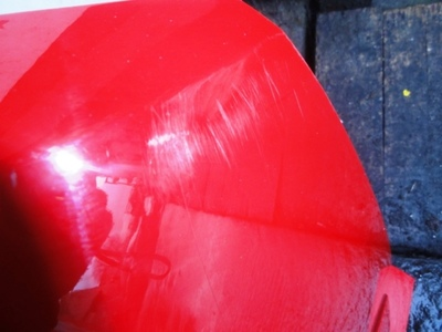 Astra H 2008 Convertible Rear Bumper in Flame Red Paint Code 79U