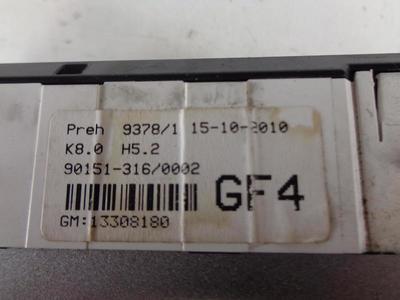 Astra H, Zafira B Heater Control Unit (No Aircon) Matt Chrome 13308180 GF4